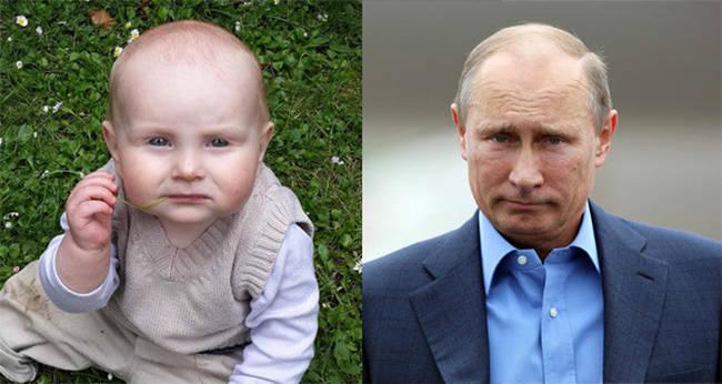 7.) 宝宝 vs. 俄罗斯总统 普丁 (Vladmir Putin)