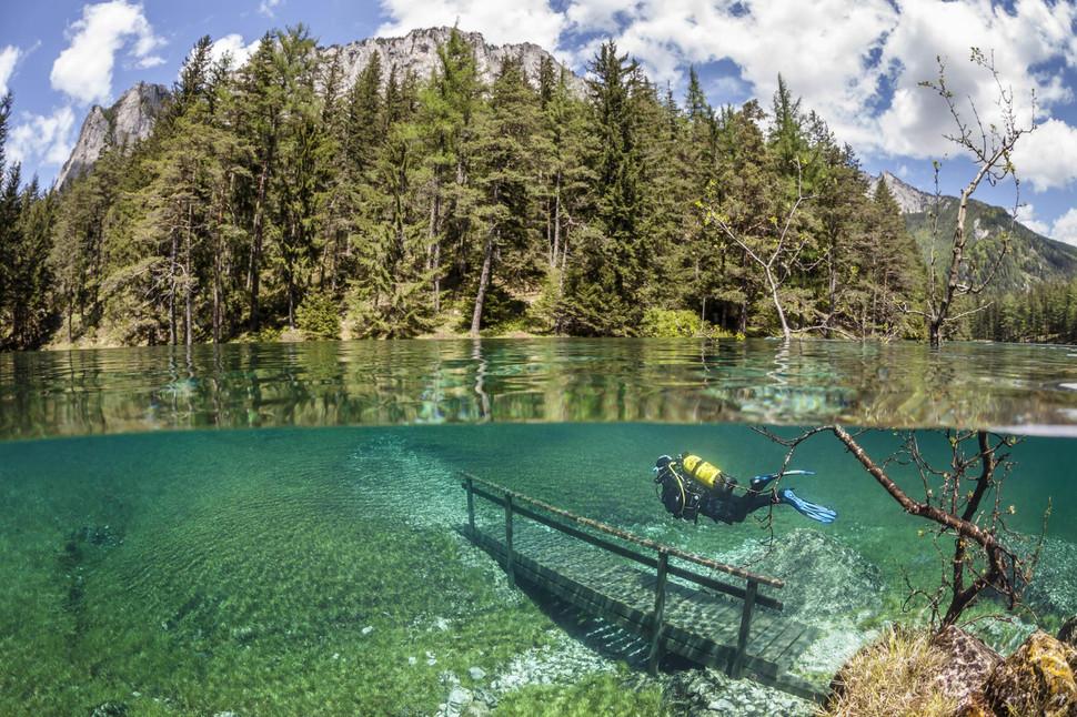 奧地利 綠湖 Green Lake in Austria