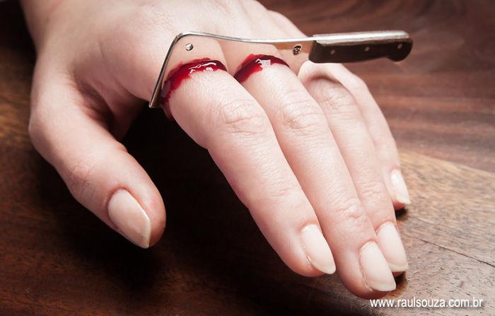 #17 切手指戒指。