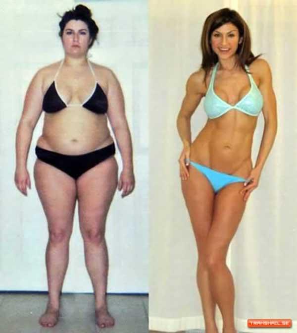 12個落差最大的大胖子到六塊肌的對照圖。