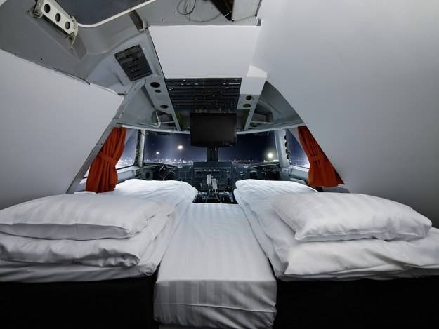 Stay in a REAL Boeing 747!!!