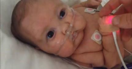 這個爸爸不想要生病在醫院的新生寶寶錯過萬聖節,因此就親手幫他做了一件最酷的服裝!