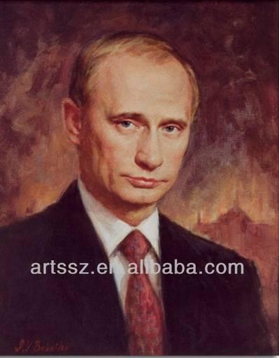 俄國總統普丁(Vladimir Putin)的畫像。