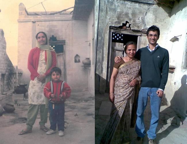 母親與兒子,21年後。