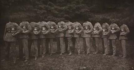 當時根本就沒有PS,但為什麼在這些歷史照片中,這些人的頭都掉下來了?