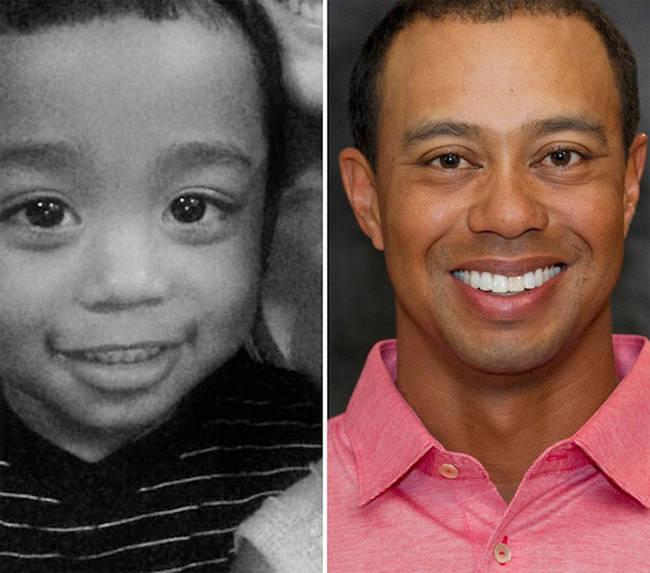 10.) 宝宝 vs. 老虎·伍兹 (Tiger Woods)