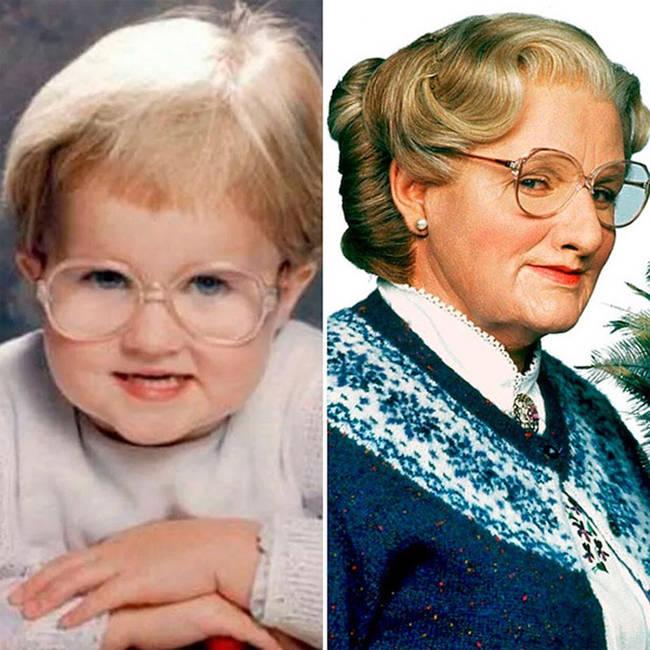 8.) 小孩 vs. 扮演「窈窕奶爸」(Mrs. Doubtfire) 的罗宾·威廉斯 (Robin Williams)
