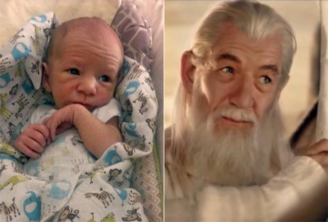 4.) 宝宝 vs. 《魔戒》甘道夫 (Gandalf)