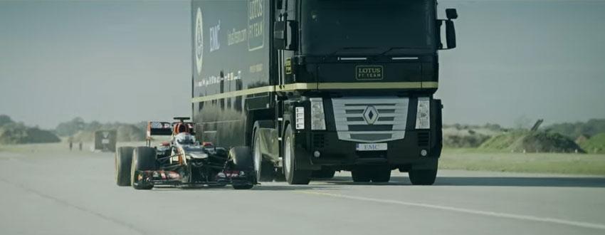 賽車跳過卡車有什麼了不起?來看看卡車跳過賽車!