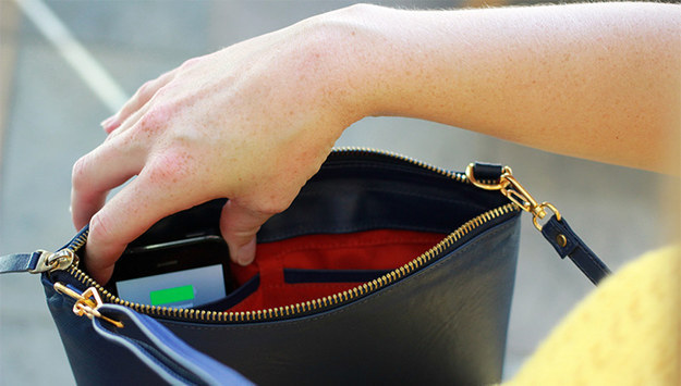 A bag that charges your phone.