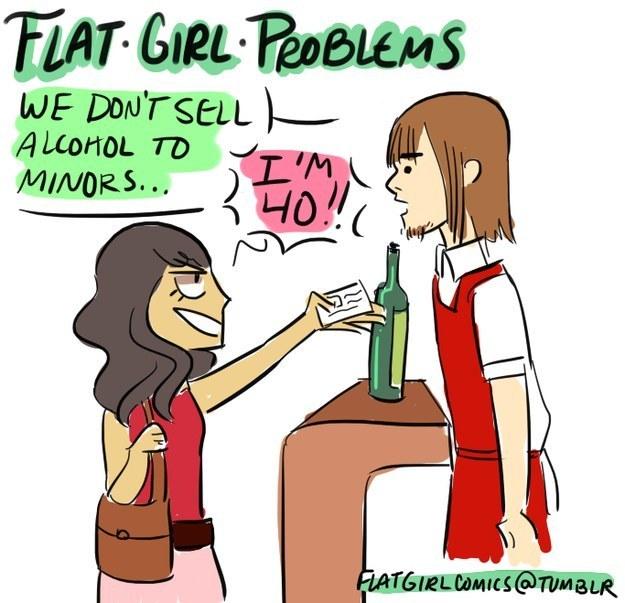 23個只有平胸女生才會知道的平時困擾。