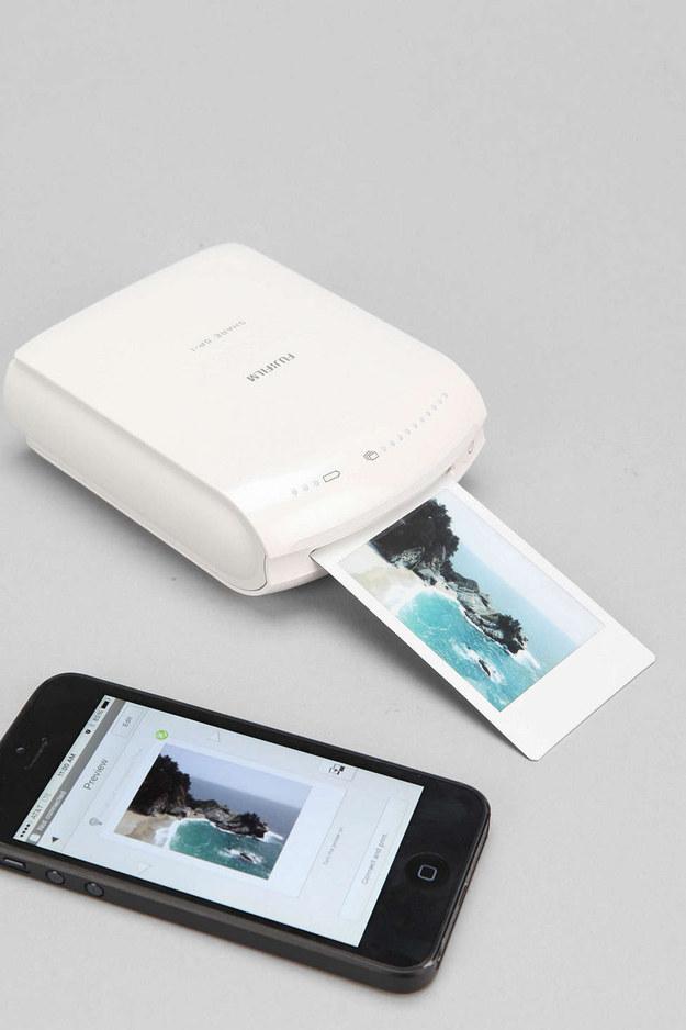 7. 照片列印机,智慧型手机即刻列印自己的拍立得。