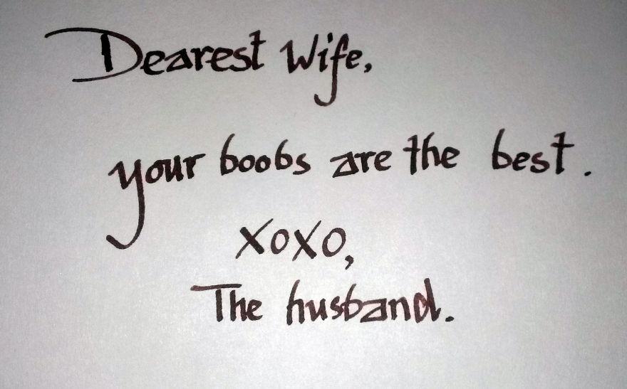 15張情侶留給彼此的浪漫訊息,會提醒你幽默比浪漫還要浪漫!