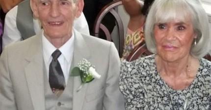 丈夫牽著將死去的妻子的手在她耳邊說出最深情的一句話。24小時後,他也心碎而死了。