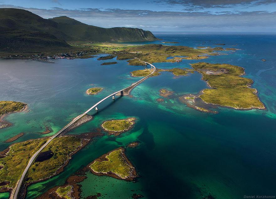 9. 羅浮敦群島,佛雷德橋(Lofoten Islands, Fredvang Bridges)