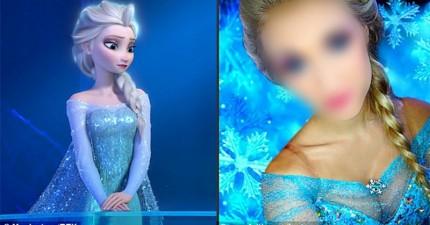 這個女生跟《冰雪奇緣》艾莎太像了,她上傳的一張照片讓她在網路上變成大名人。