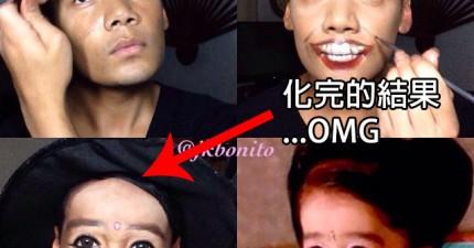 這位天才彩妝師的化妝神技讓他想變成誰就變成誰!