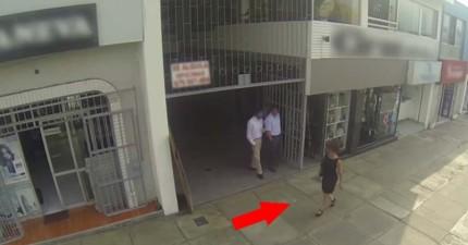 這些男人不斷在街上言語騷擾女性,直到有一天喬裝的母親走過來...