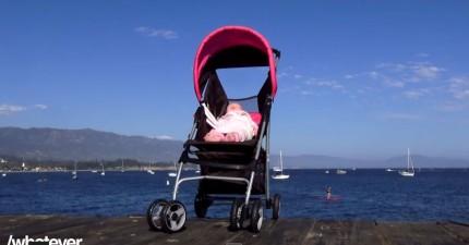這些人被叫去河邊,結果看到一個嬰兒身體朝下浮在湖面上!