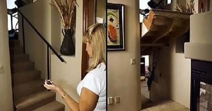 11個每個人家裡都應該要有的超酷隱藏室設計。