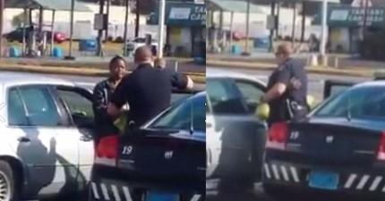 這個奶奶偷了一盒雞蛋,被警察逮到了。結果這名警察感人的舉動被網友拍下瘋傳!
