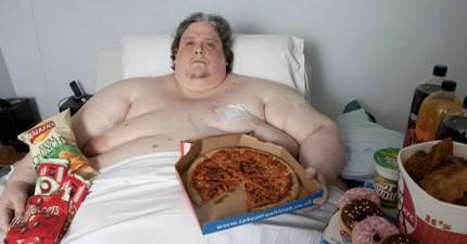 全世界最胖440公斤的男人在成功減去自己一半的體重後,最後還是因其它原因不幸逝世。