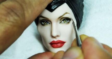 全世界最逼真細緻的名人娃娃...不注意看還會以為是真人呢!