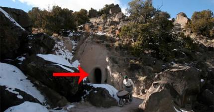 老藝術家花了10年偷偷純手工打造這個令人歎為觀止的洞中仙境!
