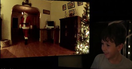 7歲小男孩在平安夜要偷拍聖誕老人的蹤跡,沒想到真的全都拍下來了!