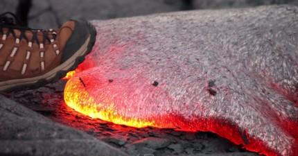用腳踩一秒岩漿會教會你的事情。