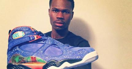 他看到自己的同學被霸凌,因此他決定用價值8000元的喬丹11代鞋幫助他。