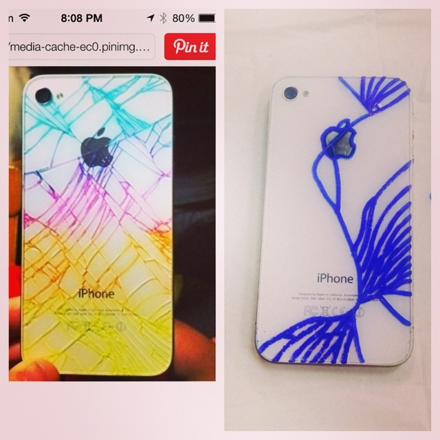 23. 别人可以把破碎的iPhone弄得这么漂亮,我的却...
