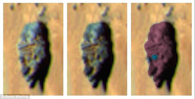 除了這個歐巴馬頭以外,先前也有過不少在火星表面發現奇特岩石的案例,像是這個酷似人臉的岩石。
