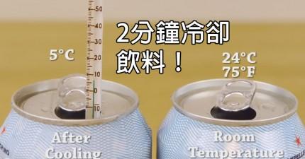 想要喝冷飲但忘記冰了嗎?學會如何在2分鐘內把它變成凍飲!