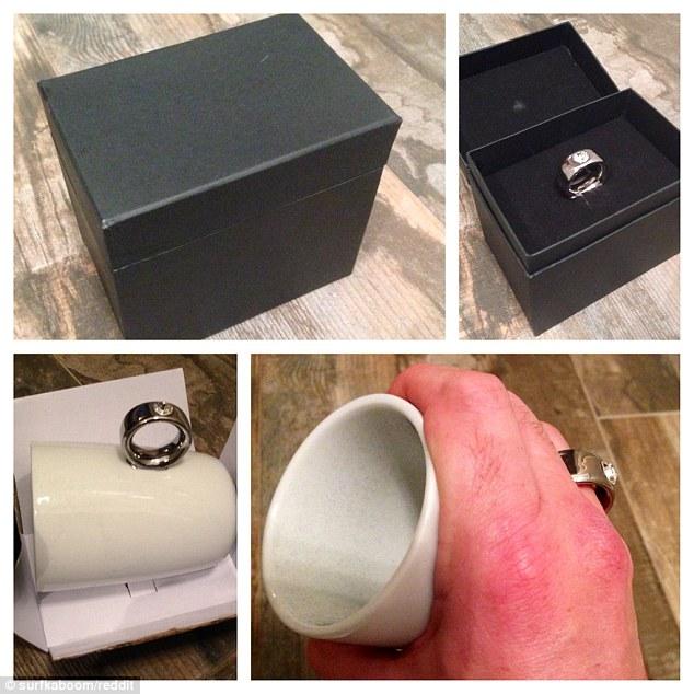 老婆收到老公的聖誕禮物,盒中是一枚閃耀的戒指,但...怎麼會重成這樣?