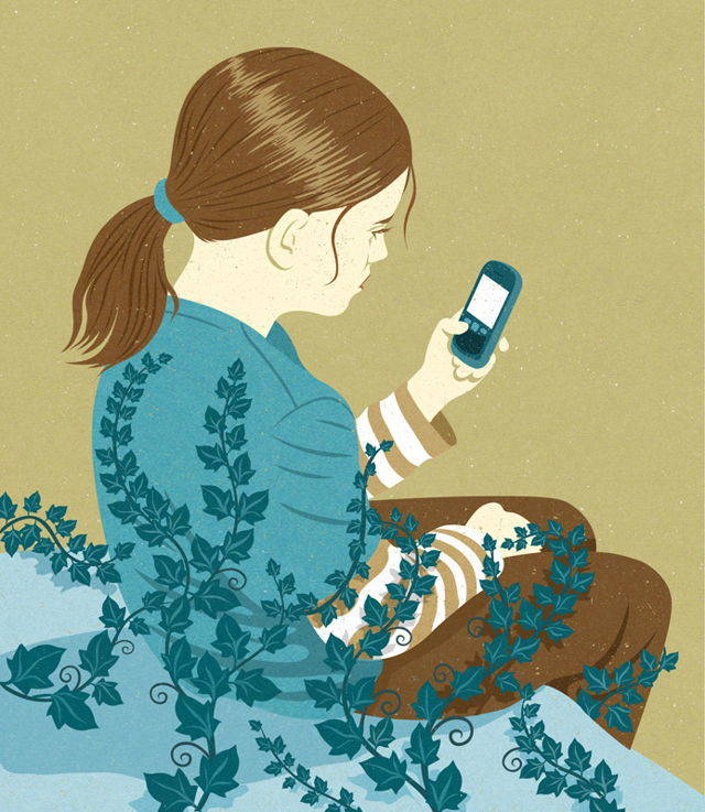 We miss the world around us because we are glued to our phones.
