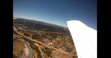 相機不小心掉出飛機但在8個月後找到。相機不只沒壞,拍到的片段太酷了!