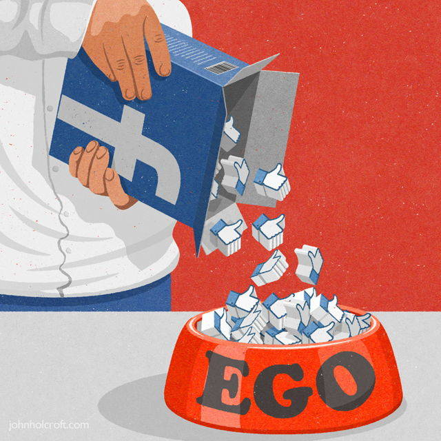 """Facebook """"likes"""" are feeding our egos."""