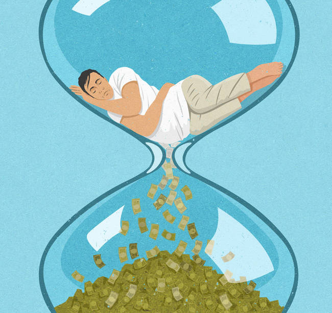 We sleep the day away while there is money to be made.