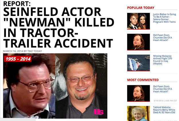 34. 韋恩·奈特(Wayne Knight)也沒死!(到底哪來這麼假的死訊啦!)
