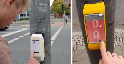 德國這個超好玩的紅綠燈裝置,會讓你很期待等紅燈的時間!