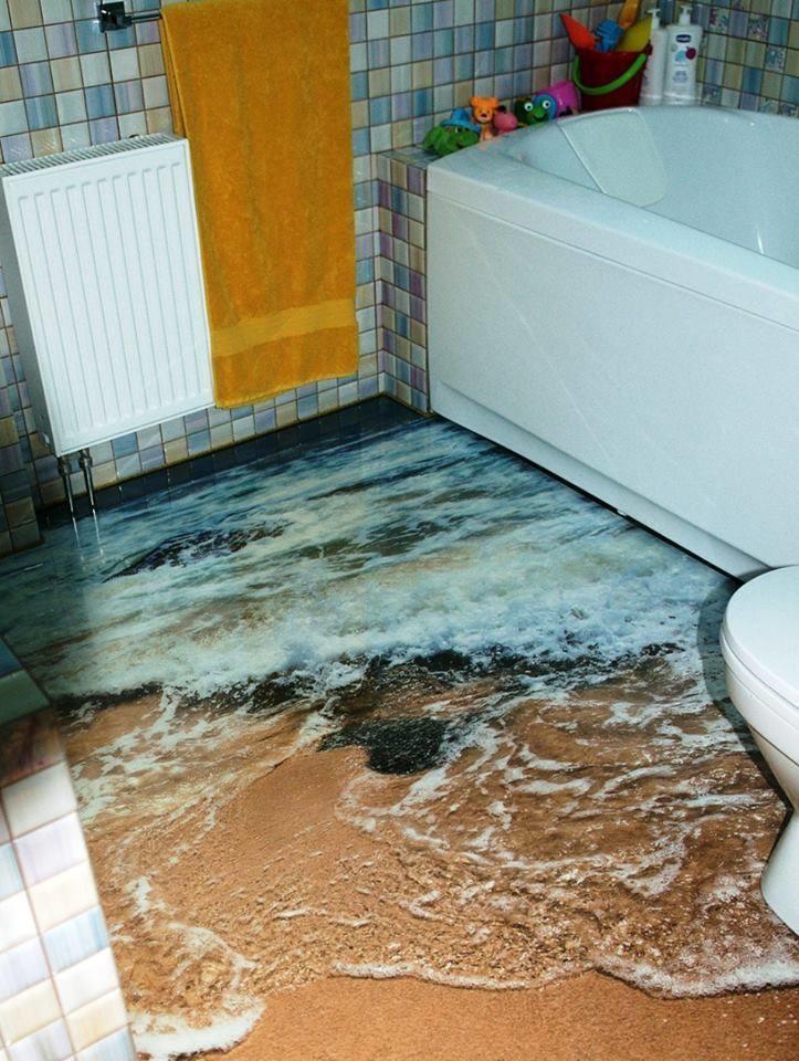 15款會讓你再也不想要離開的絕美3D浴室。