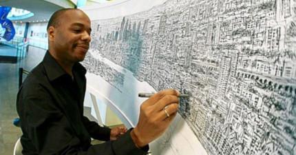 自閉男看一眼就記得100%細節,花5天時間把全倫敦城市細節都畫出來「連巷子都畫出來」!