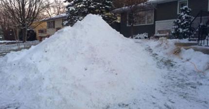 這3兄弟花了300小時在家門前堆出的雪雕強到可以去演《冰雪奇緣2》了!