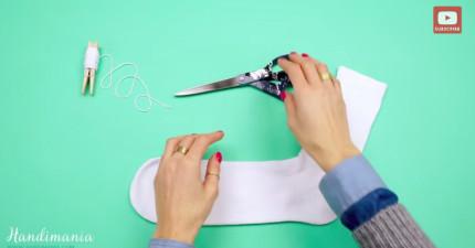 別再把失去另一半的襪子給丟掉了!用簡單的方法DIY成超可愛的裝飾品吧!