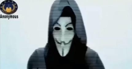 為報仇《查理週刊》血案,駭客集團「匿名者」錄製這支影片公然向聖戰組織宣戰。