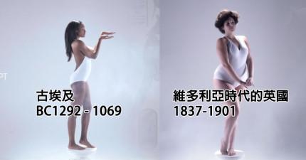 女性3000年的體態變化
