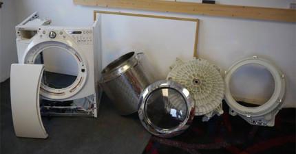 這個人把一個壞掉的洗衣機,改裝成是我見過最酷的東西。