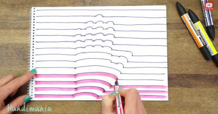 這個女生拿筆描手掌,才過了60秒就變成最棒的居家裝飾品!