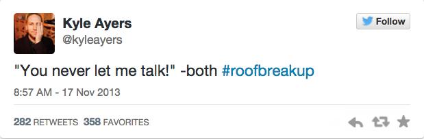 這位喜劇演員在頂樓碰上情侶鬧分手,於是立馬用發文完整轉播勁爆交鋒對話!